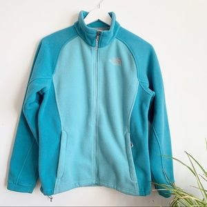 The North Face Turquoise Teal Fleece Jacket M